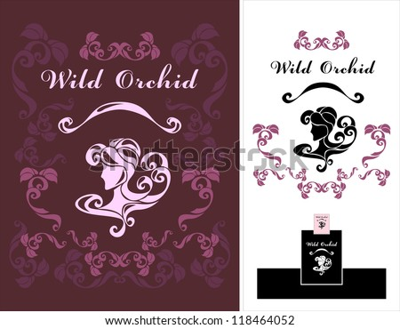 Wild Orchid flower shop for advertising, or perfume, or exclusive clothing or hair salon