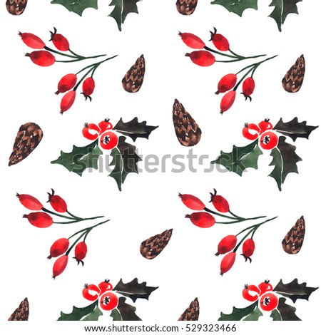 wild rose and cone pattern