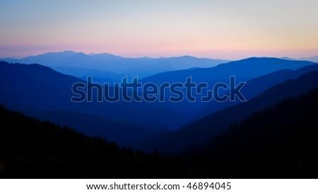 Wild untouched nature mountains