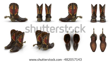 wild west leather cowboy boots...