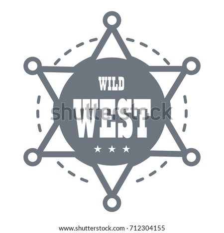 Wild west logo. Simple illustration of wild west  logo for web design