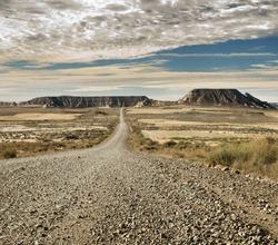 Wild west road landscape.