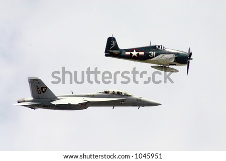 Wildcat and Hornet Military Airplanes