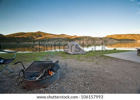 Wilderness Campsite and Fire Pit