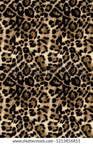 wildlife leopard pattern fur desing skin