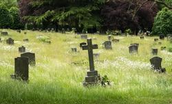 Wilford Hill cemetery gravestones, Nottingham, UK