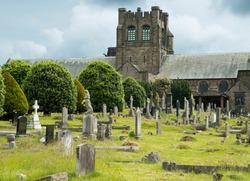 Wilford Hill crematorium and graveyard, Nottingham, UK