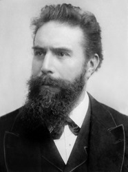 Wilhelm Roentgen (1845-1923), German physicist, received the first Nobel Prize for Physics, in 1901, for his discovery of X-rays in 1895.