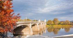 Wilkes-Barre Market Street Bridge across Susquehanna River Pennsylvania, USA