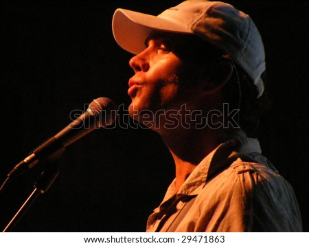 WILKESBORO, NC - AUG 14: Singer Christian Love of the Beach Boys band performs onstage at Doc and Merle Watson Theatre at Wilkes Community College in Wilkesboro, North Carolina  August 14, 2008.