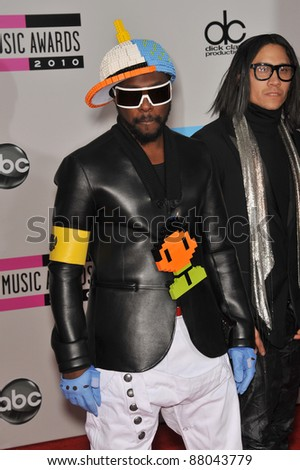 Will-I-Am of the Black Eyed Peas at the 2010 American Music Awards at the Nokia Theatre L.A. Live in downtown Los Angeles. November 21, 2010  Los Angeles, CA Picture: Paul Smith / Featureflash - stock photo