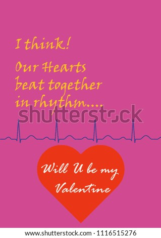 Will you be my valentine will u be my valentine greeting card greetings card happy valentines day happy valentine's day red heart pink background heart beat catchy phrase