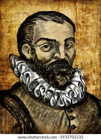 Willem Barentsz anglicized as William Barents or Barentz, was a Dutch navigator, cartographer, and Arctic explorer. Сток-фото ©