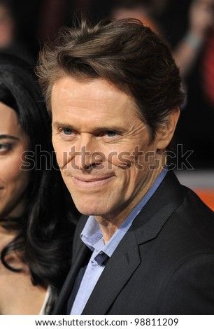 "Willem Dafoe at the world premiere of his new movie ""John Carter"" at the Regal Cinemas L.A. Live. February 22, 2012  Los Angeles, CA Picture: Paul Smith / Featureflash"
