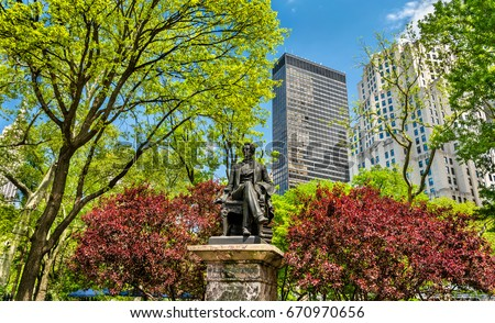 William Seward Statue at Madison Square Park in Manhattan - New York City, United States #670970656