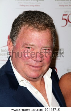 William Shatner at the St. Jude Children's Research Hospital 50th Anniversary Gala, Beverly Hilton, Beverly Hills, CA 01-07-12
