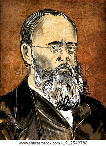 William Wilkie Collins (1824 – 1889) was an English novelist and playwright Photo stock ©