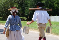 Williamsburg Virginia USA colonial costumes