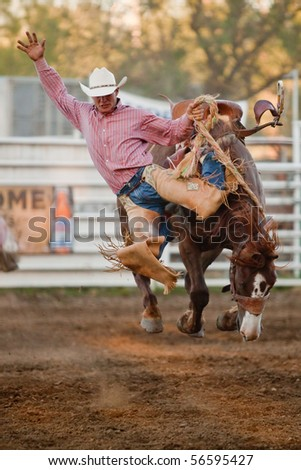 WILLITS, CA - JULY 3: Participant at the Willits Frontier Days, California's oldest continuous rodeo, held July 3, 2010 in Willits, CA.