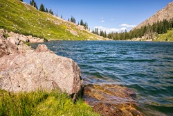 Willow lake in the Eagles Nest Wilderness, Colorado, USA