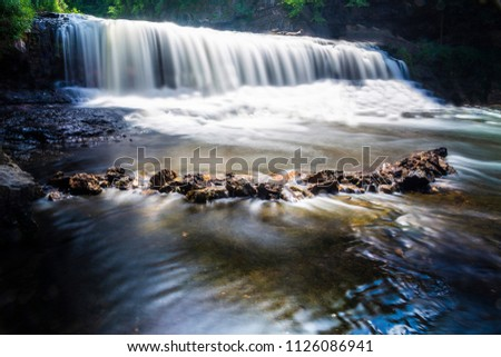 Willow River long exposure waterfall photo landscape river blur beautiful bridge swimming summer heat