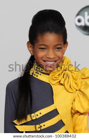 Willow Smith  at the 2010 American Music Awards Arrivals, Nokia Theater, Los Angeles, CA. 11-21-10