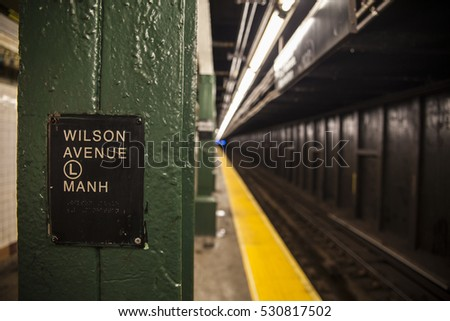 Wilson Avenue subway station Stock fotó ©