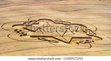 Wiltshire UK - The crop circle #1100957243