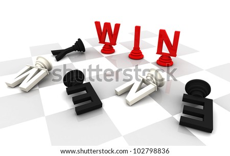 Win Enenmyr Chess word 3D render