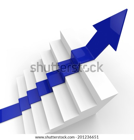 Win Stairs Showing Successful Champion And Succeed