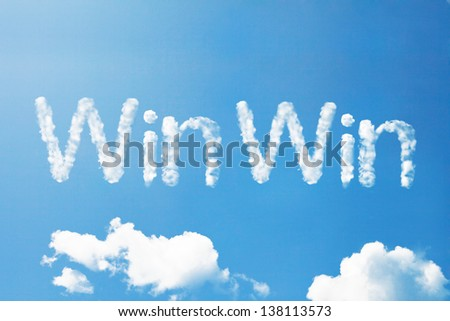 win win cloud word #138113573