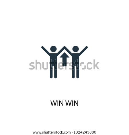 win win icon. Simple element illustration. win win concept symbol design. Can be used for web and mobile.