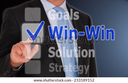 Win-Win Situation - Business Concept #233189152