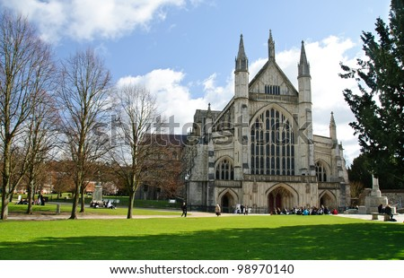 Photo of  Winchester cathedral in UK