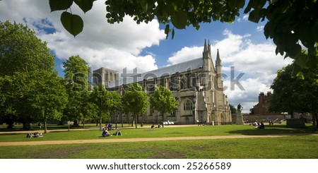 Winchester Cathedral on a lovely summer day