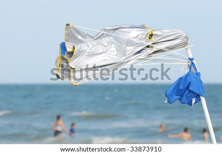 wind at the beach
