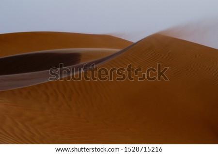 Wind blows the desert of Oman near A'Sharqiyah Sands #1528715216