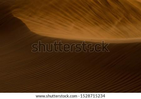 Wind blows the desert of Oman near A'Sharqiyah Sands #1528715234