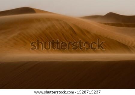 Wind blows the desert of Oman near A'Sharqiyah Sands #1528715237