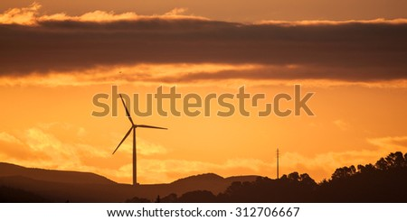 Wind Farm at sunset #312706667