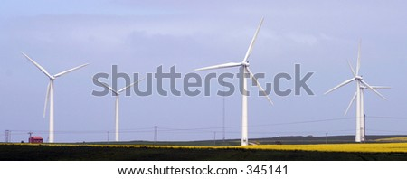Wind Farm in East Yorkshire UK