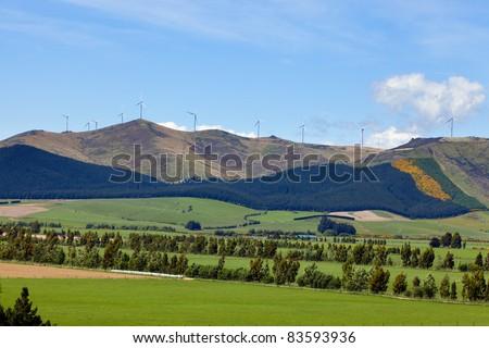 Wind farm in New Zealand