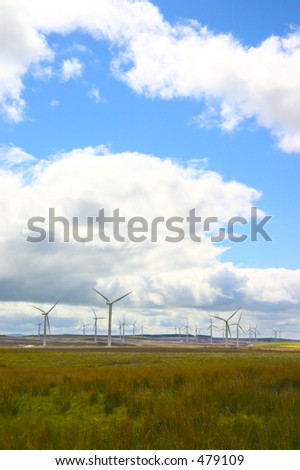 Wind Farm in West Lothian, Scotland