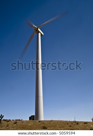 Wind farm near Tehachapi, California