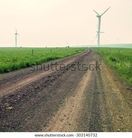 Wind farm road