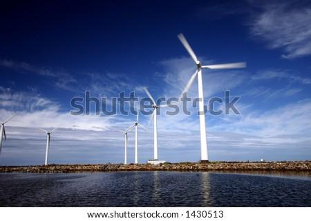 wind mill in denmark a sunny summer day (danish east coast)