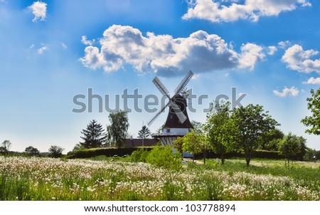 Wind mill in Egeskov, fyn, funen, Denmark