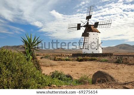 Wind mill on Fuerteventura
