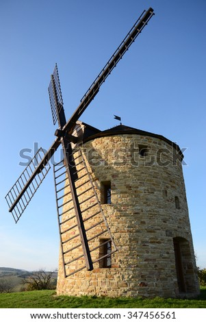 Wind mills in sunny day #347456561