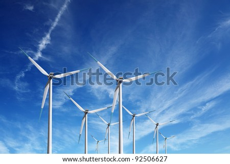 Wind power - stock photo